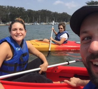 Dr. Leslie and her family enjoying a life balance of health and wellness while kayaking.